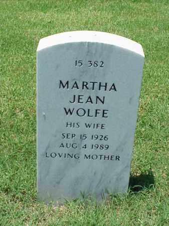 WOLFE, MARTHA JEAN - Pulaski County, Arkansas   MARTHA JEAN WOLFE - Arkansas Gravestone Photos