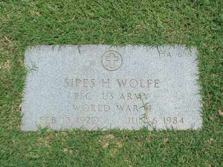 WOLFE (VETERAN WWII), SIPES H - Pulaski County, Arkansas | SIPES H WOLFE (VETERAN WWII) - Arkansas Gravestone Photos