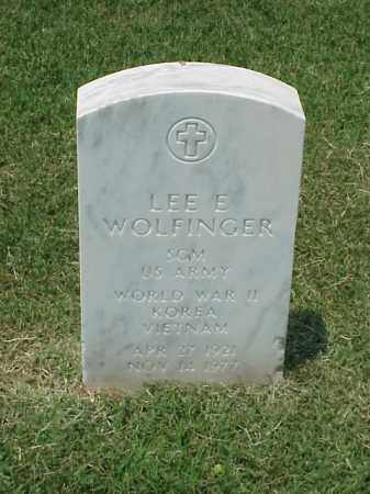 WOLFINGER (VETERAN 3 WARS), LEE E - Pulaski County, Arkansas   LEE E WOLFINGER (VETERAN 3 WARS) - Arkansas Gravestone Photos