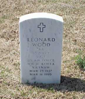 WOOD (VETERAN 3 WARS), LEONARD - Pulaski County, Arkansas | LEONARD WOOD (VETERAN 3 WARS) - Arkansas Gravestone Photos