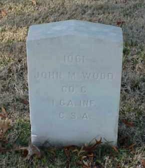 WOOD (VETERAN CSA), JOHN M - Pulaski County, Arkansas | JOHN M WOOD (VETERAN CSA) - Arkansas Gravestone Photos
