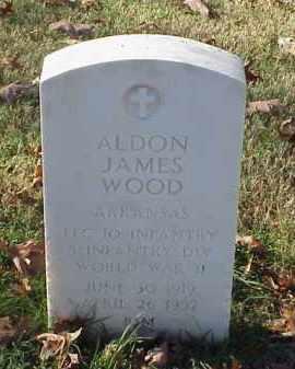 WOOD (VETERAN WWII), ALDON JAMES - Pulaski County, Arkansas | ALDON JAMES WOOD (VETERAN WWII) - Arkansas Gravestone Photos