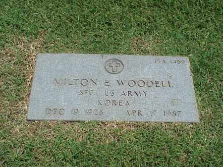 WOODELL (VETERAN KOR), MILTON E - Pulaski County, Arkansas   MILTON E WOODELL (VETERAN KOR) - Arkansas Gravestone Photos