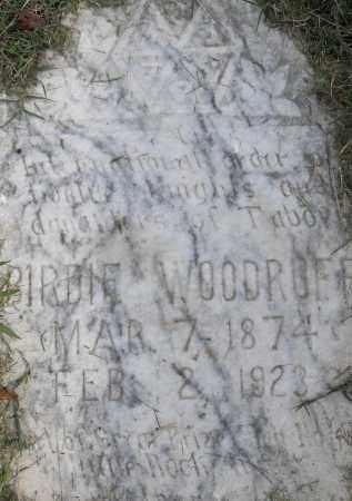 WOODRUFF, BIRDIE - Pulaski County, Arkansas | BIRDIE WOODRUFF - Arkansas Gravestone Photos
