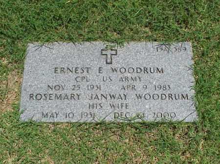 WOODRUM (VETERAN KOR), ERNEST E - Pulaski County, Arkansas   ERNEST E WOODRUM (VETERAN KOR) - Arkansas Gravestone Photos