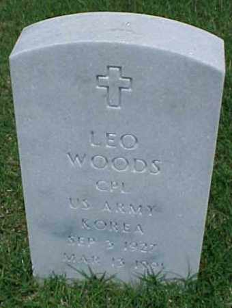 WOODS (VETERAN KOR), LEO - Pulaski County, Arkansas | LEO WOODS (VETERAN KOR) - Arkansas Gravestone Photos