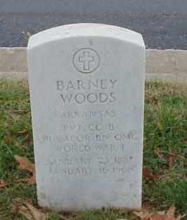 WOODS (VETERAN WWI), BARNEY - Pulaski County, Arkansas   BARNEY WOODS (VETERAN WWI) - Arkansas Gravestone Photos