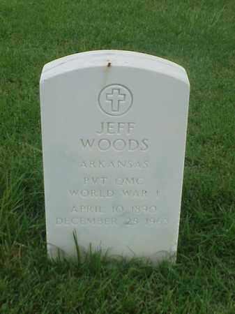 WOODS (VETERAN WWI), JEFF - Pulaski County, Arkansas | JEFF WOODS (VETERAN WWI) - Arkansas Gravestone Photos