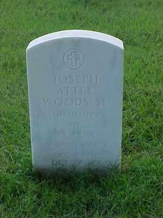 WOODS, SR (VETERAN WWI), JOSEPH ATTLY - Pulaski County, Arkansas   JOSEPH ATTLY WOODS, SR (VETERAN WWI) - Arkansas Gravestone Photos