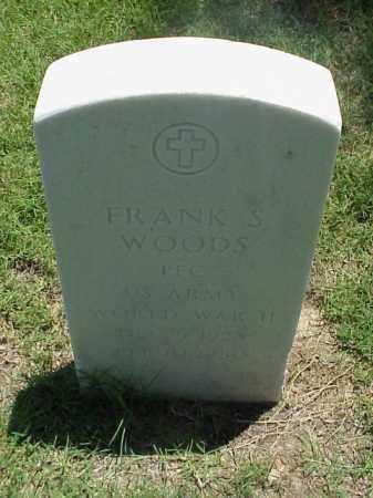 WOODS (VETERAN WWII), FRANK S - Pulaski County, Arkansas   FRANK S WOODS (VETERAN WWII) - Arkansas Gravestone Photos