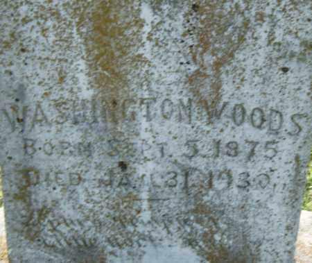 WOODS, WASHINGTON - Pulaski County, Arkansas   WASHINGTON WOODS - Arkansas Gravestone Photos