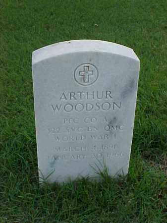 WOODSON (VETERAN WWI), ARTHUR - Pulaski County, Arkansas   ARTHUR WOODSON (VETERAN WWI) - Arkansas Gravestone Photos