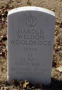 WOOLDRIDGE  (VETERAN WWII), HAROLD WELDON - Pulaski County, Arkansas | HAROLD WELDON WOOLDRIDGE  (VETERAN WWII) - Arkansas Gravestone Photos