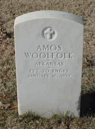 WOOLFOLK (VETERAN WWI), AMOS - Pulaski County, Arkansas | AMOS WOOLFOLK (VETERAN WWI) - Arkansas Gravestone Photos
