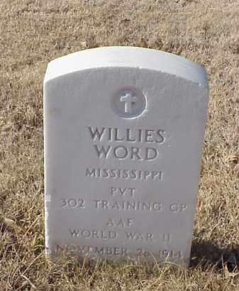 WORD (VETERAN WWII), WILLIES - Pulaski County, Arkansas   WILLIES WORD (VETERAN WWII) - Arkansas Gravestone Photos