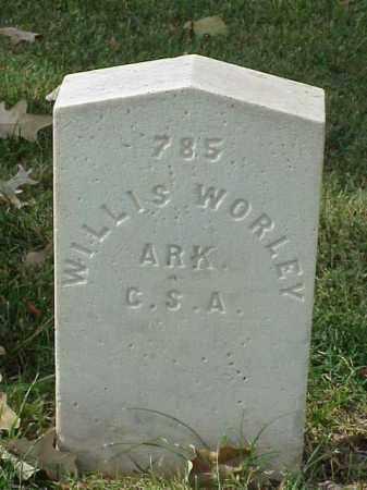 WORLEY (VETERAN CSA), WILLIS - Pulaski County, Arkansas | WILLIS WORLEY (VETERAN CSA) - Arkansas Gravestone Photos