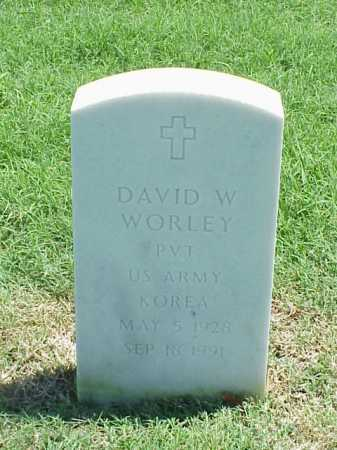 WORLEY (VETERAN KOR), DAVID W - Pulaski County, Arkansas | DAVID W WORLEY (VETERAN KOR) - Arkansas Gravestone Photos