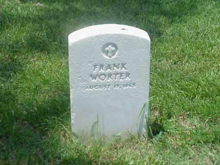 WORTER, FRANK - Pulaski County, Arkansas | FRANK WORTER - Arkansas Gravestone Photos