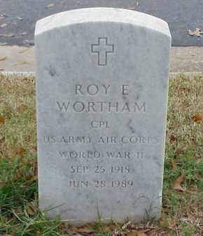 WORTHAM (VETERAN WWII), ROY E - Pulaski County, Arkansas | ROY E WORTHAM (VETERAN WWII) - Arkansas Gravestone Photos