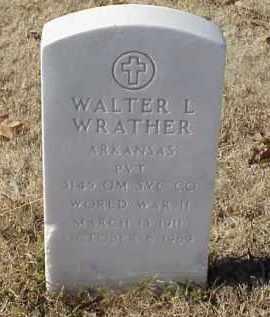 WRATHER (VETERAN WWII), WALTER L - Pulaski County, Arkansas | WALTER L WRATHER (VETERAN WWII) - Arkansas Gravestone Photos