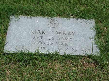 WRAY (VETERAN WWI), KIRK T - Pulaski County, Arkansas   KIRK T WRAY (VETERAN WWI) - Arkansas Gravestone Photos