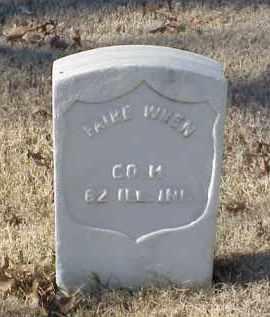 WREN (VETERAN UNION), FAIRE - Pulaski County, Arkansas   FAIRE WREN (VETERAN UNION) - Arkansas Gravestone Photos