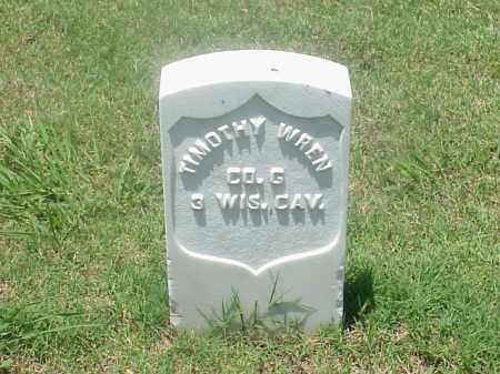 WREN (VETERAN UNION), TIMOTHY - Pulaski County, Arkansas   TIMOTHY WREN (VETERAN UNION) - Arkansas Gravestone Photos