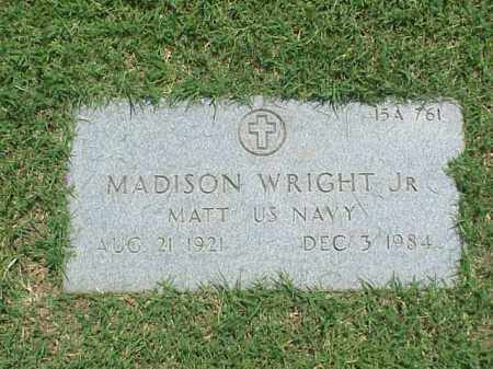 WRIGHT, JR (VETERAN), MADISON - Pulaski County, Arkansas | MADISON WRIGHT, JR (VETERAN) - Arkansas Gravestone Photos