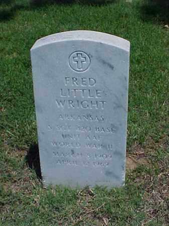 WRIGHT (VETERAN WWII), FRED LITTLE - Pulaski County, Arkansas   FRED LITTLE WRIGHT (VETERAN WWII) - Arkansas Gravestone Photos