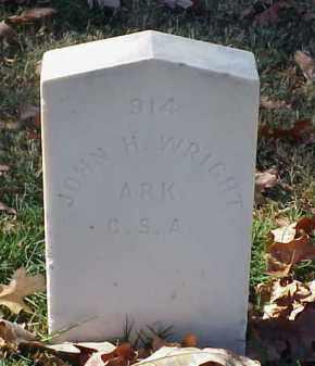 WRIGHT (VETERAN CSA), JOHN H - Pulaski County, Arkansas | JOHN H WRIGHT (VETERAN CSA) - Arkansas Gravestone Photos