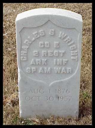 WRIGHT (VETERAN SAW), CHARLES S - Pulaski County, Arkansas | CHARLES S WRIGHT (VETERAN SAW) - Arkansas Gravestone Photos