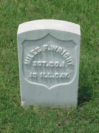 WRIGHT (VETERAN UNION), MILES F - Pulaski County, Arkansas   MILES F WRIGHT (VETERAN UNION) - Arkansas Gravestone Photos