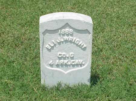 WRIGHT (VETERAN UNION), ELI J - Pulaski County, Arkansas | ELI J WRIGHT (VETERAN UNION) - Arkansas Gravestone Photos