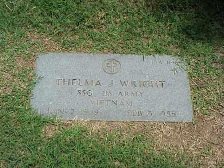 WRIGHT (VETERAN VIET), THELMA J - Pulaski County, Arkansas   THELMA J WRIGHT (VETERAN VIET) - Arkansas Gravestone Photos