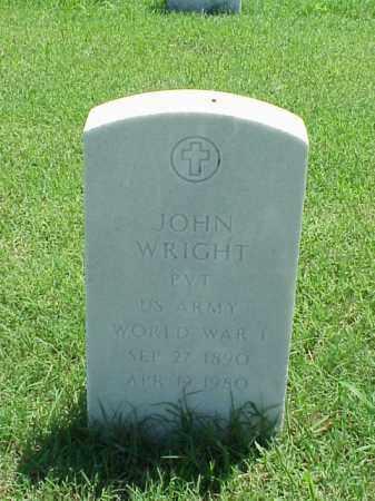WRIGHT (VETERAN WWI), JOHN - Pulaski County, Arkansas | JOHN WRIGHT (VETERAN WWI) - Arkansas Gravestone Photos