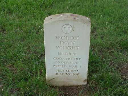 WRIGHT (VETERAN WWI), WORDIE IVAN - Pulaski County, Arkansas   WORDIE IVAN WRIGHT (VETERAN WWI) - Arkansas Gravestone Photos