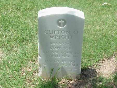 WRIGHT (VETERAN WWII), CLIFTON O - Pulaski County, Arkansas | CLIFTON O WRIGHT (VETERAN WWII) - Arkansas Gravestone Photos