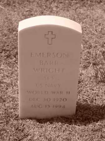 WRIGHT (VETERAN WWII), EMERSON BARR - Pulaski County, Arkansas | EMERSON BARR WRIGHT (VETERAN WWII) - Arkansas Gravestone Photos