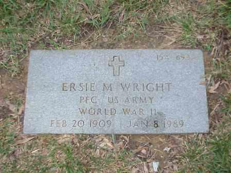 WRIGHT (VETERAN WWII), ERSIE M - Pulaski County, Arkansas | ERSIE M WRIGHT (VETERAN WWII) - Arkansas Gravestone Photos