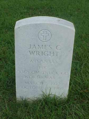 WRIGHT (VETERAN WWII), JAMES C - Pulaski County, Arkansas | JAMES C WRIGHT (VETERAN WWII) - Arkansas Gravestone Photos