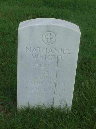 WRIGHT (VETERAN WWII), NATHANIEL - Pulaski County, Arkansas | NATHANIEL WRIGHT (VETERAN WWII) - Arkansas Gravestone Photos