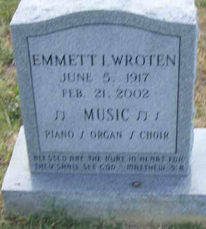 WROTEN, EMMETT I. - Pulaski County, Arkansas | EMMETT I. WROTEN - Arkansas Gravestone Photos