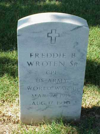 WROTEN, SR (VETERAN WWII), FREDDIE B - Pulaski County, Arkansas   FREDDIE B WROTEN, SR (VETERAN WWII) - Arkansas Gravestone Photos