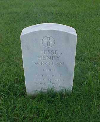 WROTEN (VETERAN WWI), JESSE HENRY - Pulaski County, Arkansas   JESSE HENRY WROTEN (VETERAN WWI) - Arkansas Gravestone Photos
