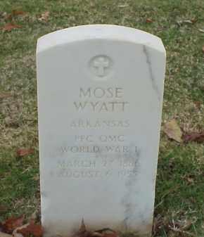 WYATT (VETERAN WWI), MOSE - Pulaski County, Arkansas | MOSE WYATT (VETERAN WWI) - Arkansas Gravestone Photos