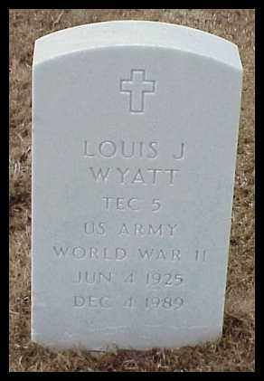 WYATT (VETERAN WWII), LOUIS J - Pulaski County, Arkansas | LOUIS J WYATT (VETERAN WWII) - Arkansas Gravestone Photos
