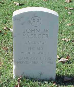YAERGER (VETERAN WWI), JOHN W - Pulaski County, Arkansas   JOHN W YAERGER (VETERAN WWI) - Arkansas Gravestone Photos