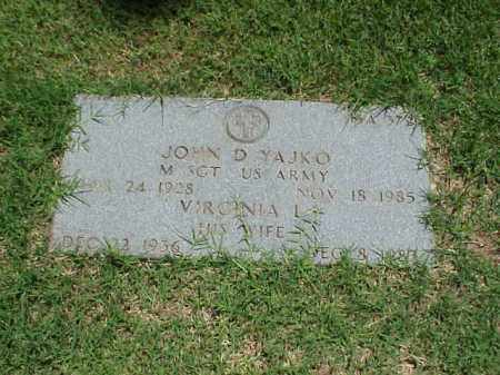 YAJKO (VETERAN 2 WARS), JOHN D - Pulaski County, Arkansas | JOHN D YAJKO (VETERAN 2 WARS) - Arkansas Gravestone Photos