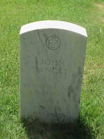 YANCEY (VETERAN 2 WARS), JOHN - Pulaski County, Arkansas | JOHN YANCEY (VETERAN 2 WARS) - Arkansas Gravestone Photos