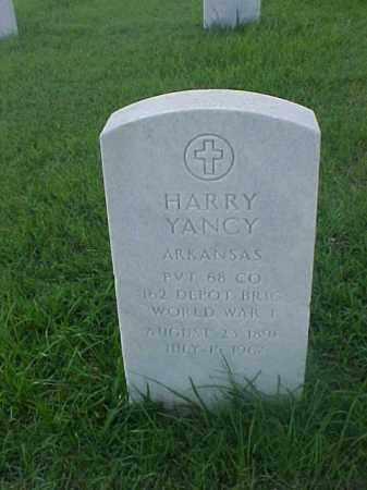 YANCY (VETERAN WWI), HARRY - Pulaski County, Arkansas | HARRY YANCY (VETERAN WWI) - Arkansas Gravestone Photos